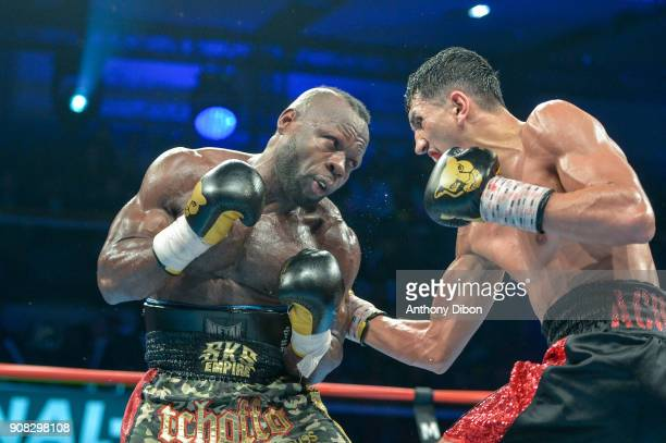 Rachid Achoui and Francis Togba Tchoffo during the Main Event 5 in Salle Marcel Cerdan on January 19 2018 in Paris France