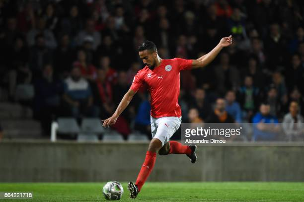 Rachid Alioui of Nimes during the Ligue 2 match between Nimes Olympique and Stade Brestois at on October 20 2017 in Nimes France