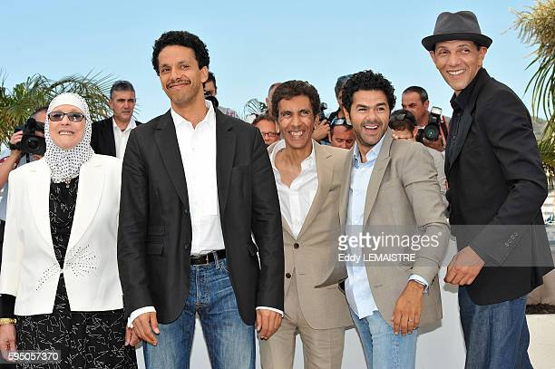 Rachid Bouchareb Jamel Debbouze Roschdy Zem Sami Bouajila and Chafia Boudraa at the photo call for Outside Of The Law during the 63rd Cannes...