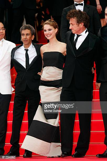 Rachid Bouchareb Natalie Portman and Sean Penn arrive for the Palme d'Or Closing Ceremony at the Palais des Festivals during the 61st International...
