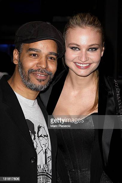 Rachid Dhibou and Anca Radici attend the 'Halal Police d'etat' premiere at UGC Cine Cite Bercy on February 15 2011 in Paris France