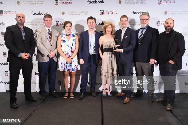 Rachid El Guerrab Peabody Awards Executive Director Jeffrey Jones Shelby Silverman Matt McDonald Karen Difilho David Eisenmann Scott Stafford and Dan...