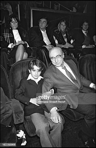 "Rachid Ferrache and Gérard Oury for ""L' As Des As"" premiere in Paris, 1982."