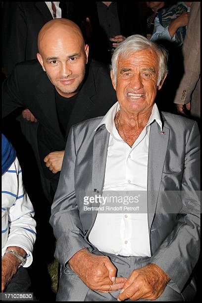 Rachid Ferrache Jean Paul Belmondo at Opening Party For The Paul Belmondo Museum In BoulogneBillancourt