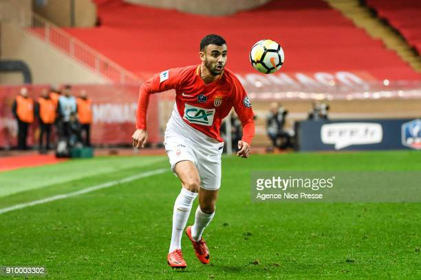 Rachid Ghezzal of Monaco during the French National Cup match round of 32 between Monaco and Lyon on January 24 2018 in Monaco Monaco