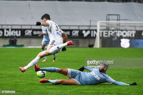 Rachid Ghezzal of Monaco during the Ligue 1 match between Amiens SC and AS Monaco at Stade de la Licorne on November 17 2017 in Amiens