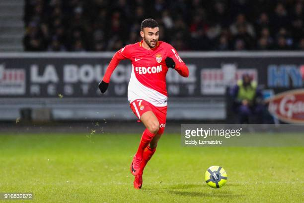 Rachid Ghezzal of Monaco during the Ligue 1 match between Angers SCO and AS Monaco at Stade Raymond Kopa on February 10 2018 in Angers
