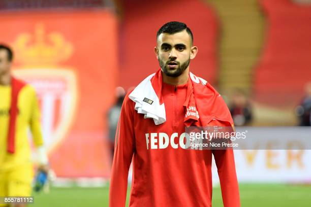Rachid Ghezzal of Monaco during the Ligue 1 match between AS Monaco and Montpellier Herault SC at Stade Louis II on September 29 2017 in Monaco