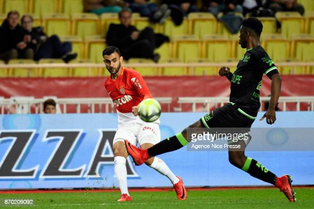 Rachid Ghezzal of Monaco during the Ligue 1 match between AS Monaco and EA Guingamp at Stade Louis II on November 4 2017 in Monaco