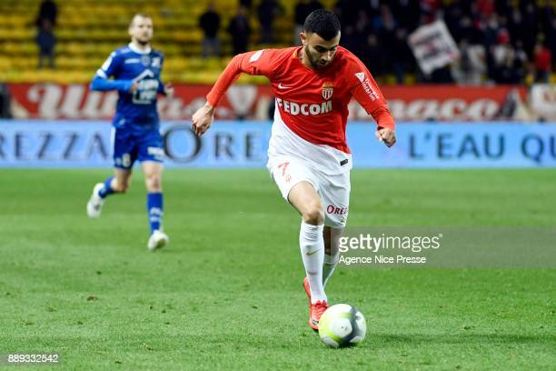 Rachid Ghezzal of Monaco during the Ligue 1 match between AS Monaco and Troyes Estac at Stade Louis II on December 9 2017 in Monaco