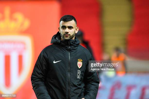 Rachid Ghezzal of Monaco during the Ligue 1 match between AS Monaco and Stade Rennais at Stade Louis II on December 20 2017 in Monaco