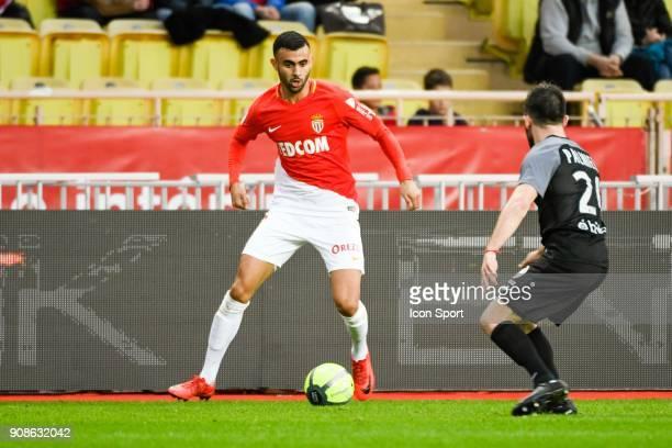 Rachid Ghezzal of Monaco during the Ligue 1 match between AS Monaco and Metz at Louis II Stadium on January 21 2018 in Monaco Monaco