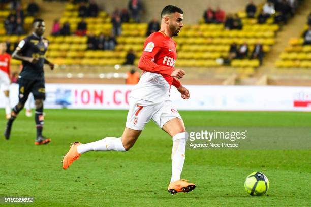 Rachid Ghezzal of Monaco during the Ligue 1 match between AS Monaco and Dijon FCO at Stade Louis II on February 16 2018 in Monaco