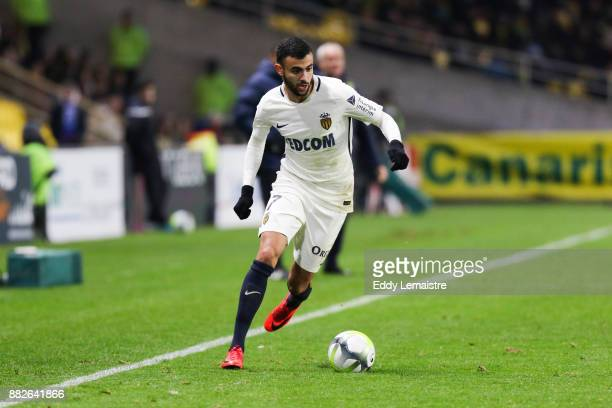 Rachid Ghezzal of Monaco during the Ligue 1 match between FC Nantes and AS Monaco at Stade de la Beaujoire on November 29 2017 in Nantes