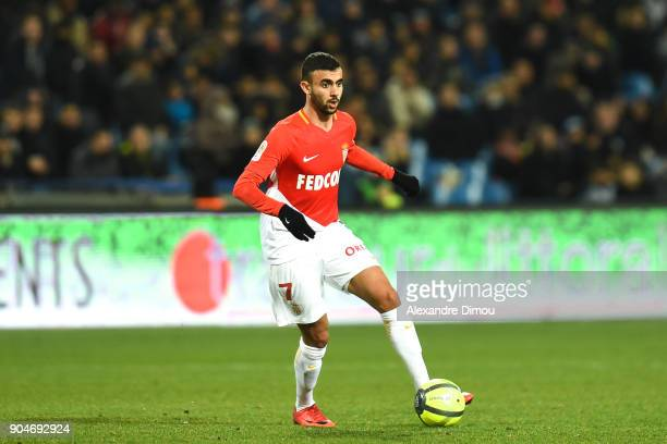 Rachid Ghezzal of Monaco during the Ligue 1 match between Montpellier and Monaco at Stade de la Mosson on January 13 2018 in Montpellier France