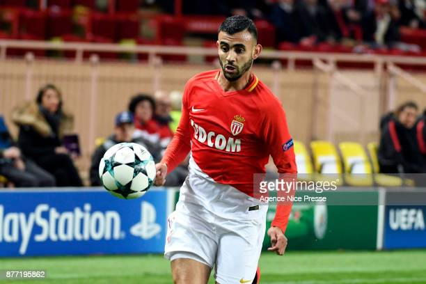 Rachid Ghezzal of Monaco during the UEFA Champions League match between As Monaco and RB Leipzig at Stade Louis II on November 21 2017 in Monaco...