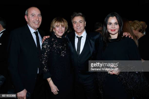 Rachid Khimoune his companion Eve Ruggieri Tenor Roberto Alagna and Soprano Alexandra Kurzak attend the AROP Charity Gala with the representation of...
