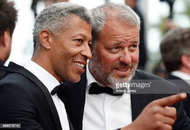 Rachid M'Barki and a guest attend the 'Twin Peaks' screening during the 70th annual Cannes Film Festival at Palais des Festivals on May 25 2017 in...