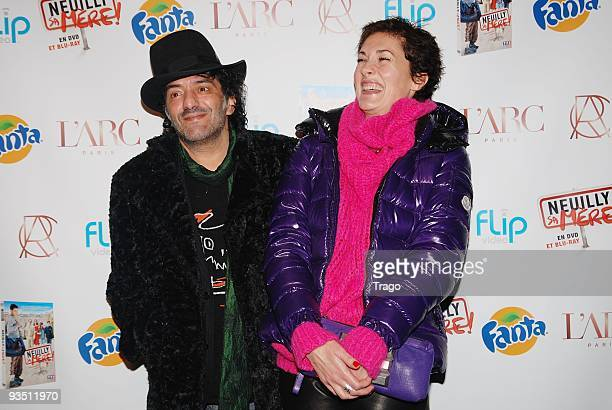Rachid Taha and guest attend the 'Neuilly Sa Mere' DVD launch party at L'Arc on November 27 2009 in Paris France
