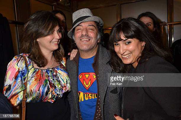 Rachid Taha and guests attend the Dany Atrache Spring/Summer 2012 HauteCouture Show as part of Paris Fashion Week at Hotel Fouquet's Barriere on...