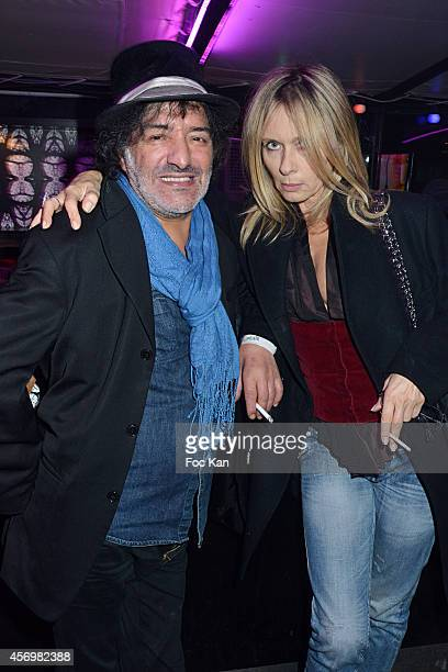 Rachid Taha and Valerie Steffen attend the James Arch Party At The River's Kingboat on 9 2014 in Paris France