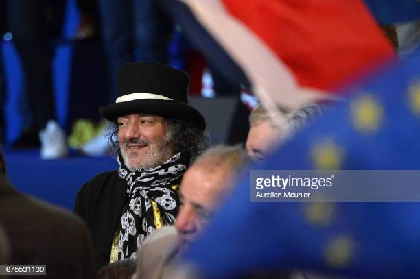 Rachid Taha arrives a French Presidential Candidate Emmanuel Macron is about to give a political meeting at Grande Halle de La Villette on May 1 2017...