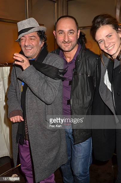 Rachid Taha Dany Atrache and Sabrina Bellino attend the Dany Atrache Spring/Summer 2012 HauteCouture Show as part of Paris Fashion Week at Hotel...
