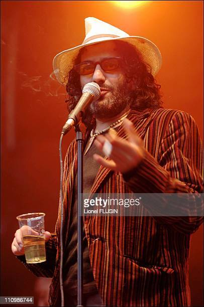 Rachid Taha performs at Rock oz Arenes Festival in Switzerland on August 20th 2005