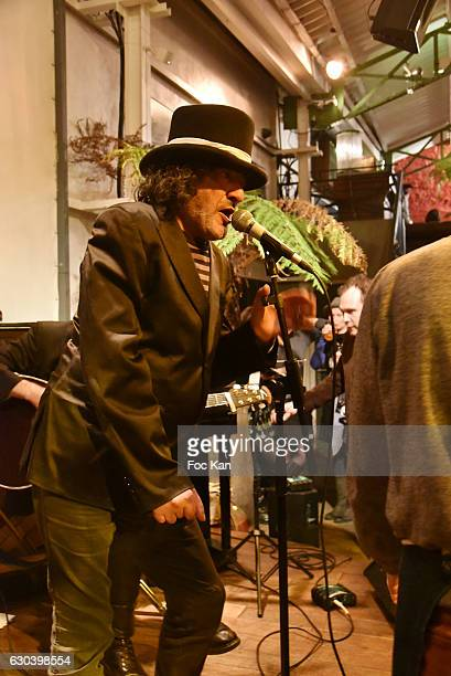 Rachid Taha performs during the 'Back in 1966' Concert at La Bellevilloise on December 21 2016 in Paris France
