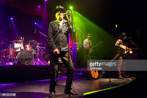 Rachid Taha performs on stage during Festival del Millenni at Sala Apolo on March 28 2014 in Barcelona Spain