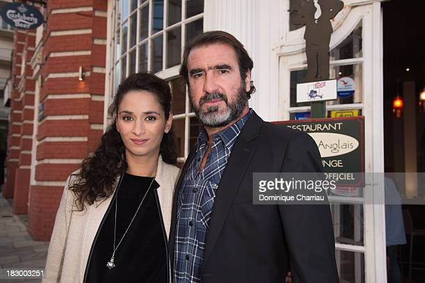 Rachida Brakni and Eric Cantona arrive at the 24th Dinard British Film Festival Opening Ceremony on October 3 2013 in Dinard France