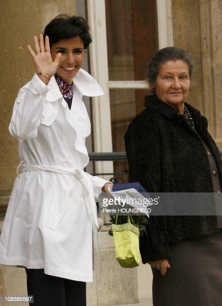 Rachida Dati and Simone Weil in Paris France on March 08 2008