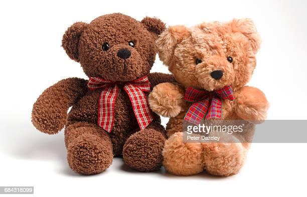 racial harmony teddy bears - テディベア ストックフォトと画像