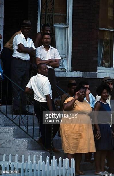 Racial Riots In Chicago. Aux Etats-Unis, à Chicago, en juillet 1966, lors des émeutes raciales des noirs américains, intervention des soldats et des...