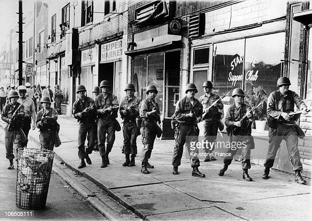 Racial Riots In DetroitThe National Guard 1964UsaIllinois