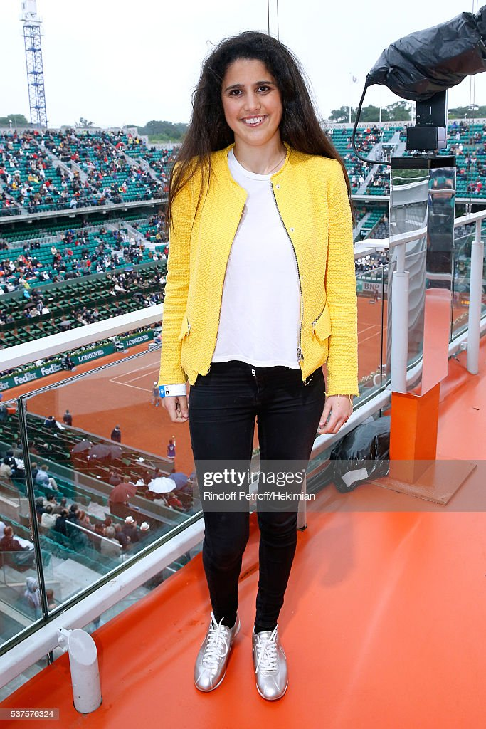 Racig driver Ines Taittinger, she will participate at the '24 heures du Mans 2016' race in the Pegasus Team, poses at France Television french chanel studio during Day Twelve of the 2016 French Tennis Open at Roland Garros on June 2, 2016 in Paris, France.