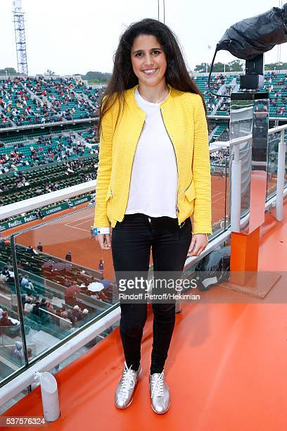 Racig driver Ines Taittinger she will participate at the '24 heures du Mans 2016' race in the Pegasus Team poses at France Television french chanel...