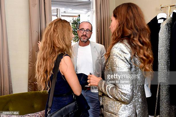 Racil Chalhoub and Gianluca Longo attend a cocktail reception hosted by RACIL And MATCHESFASHIONCOM to celebrate the launch of Racil AW16 Collection...