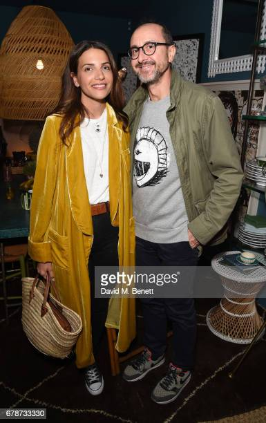 Racil Chalhoub and Gianluca Longo attend an intimate cocktail party hosted by Talitha's Kim Hersov and Shon Randhawa to celebrate the launch of their...