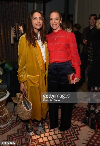 Racil Chalhoub and Tiphaine de Lussy attend an intimate cocktail party hosted by Talitha's Kim Hersov and Shon Randhawa to celebrate the launch of...