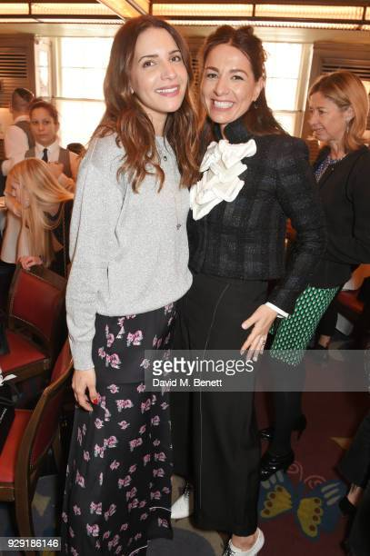 Racil Chalhoub and Yana Peel attend the Harper's Bazaar lunch to celebrate International Women's Day at 34 Mayfair on March 8 2018 in London England