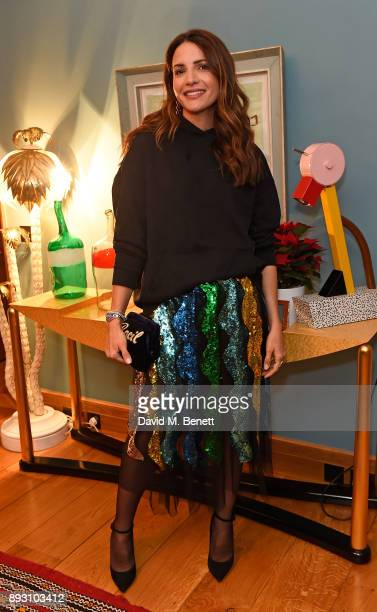 Racil Chalhoub attends SEMAINE x SABINE GETTY Christmas cocktail party on December 14 2017 in London England