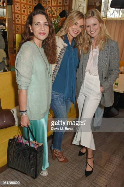 Racil Chalhoub Kim Hersov and Candice Lake attend the Espie Roche launch breakfast at The Chess Club on March 13 2018 in London England