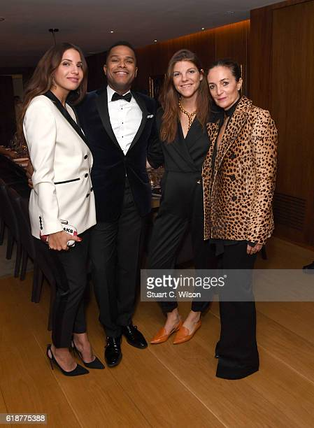 Racil Chalhoub Maxwell Bex Manners and Daniela Agnelli attend the Farfetch Dinner to Celebrate Maxwell's King Queen of Hearts World Tour at The...