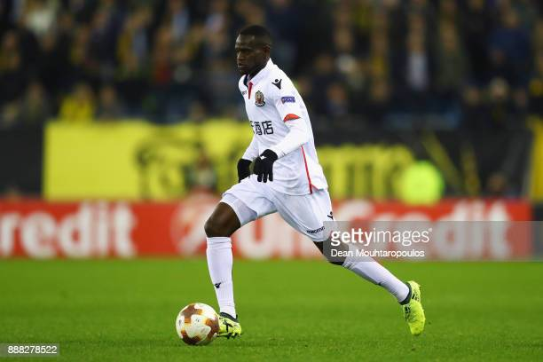 Racine Coly of OGC Nice in action during the UEFA Europa League group K match between Vitesse and OGC Nice at on December 7 2017 in Arnhem Netherlands