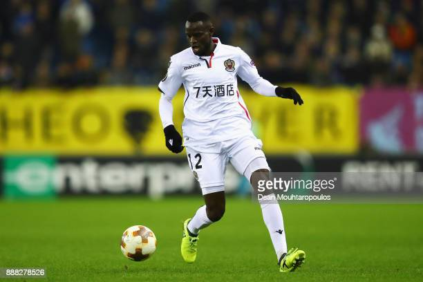 Racine Coly of OGC Nice in action during the UEFA Europa League group K match between Vitesse and OGC Nice at on December 7, 2017 in Arnhem,...