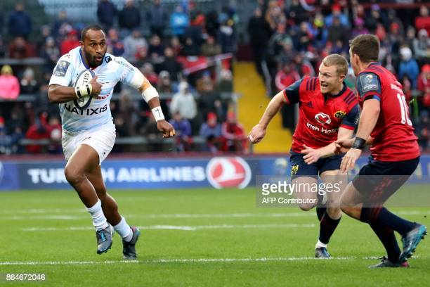 Racing 92's New Zealand wing Joe Rokocoko makes a break during the European Rugby Champions Cup pool 4 rugby union match between Munster and Racing...