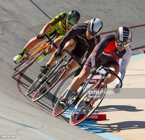 Racing at the velodrom in Portland Oregon.