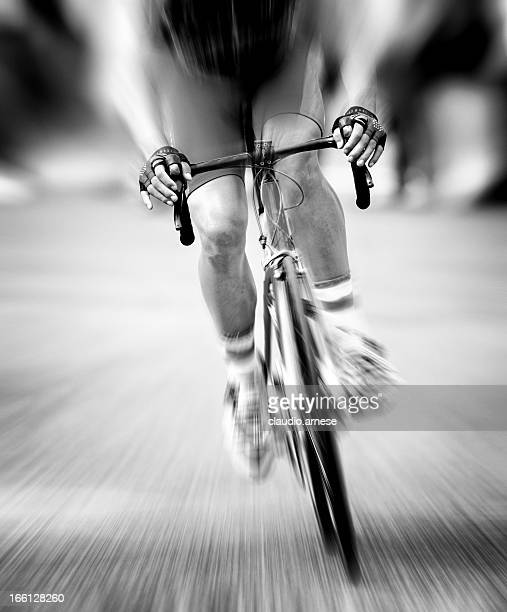 Racing Bicycle. Black and White