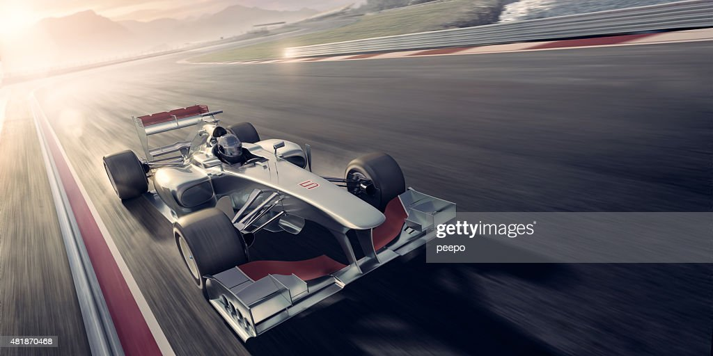 Racing Car At Sunset : Stock Photo